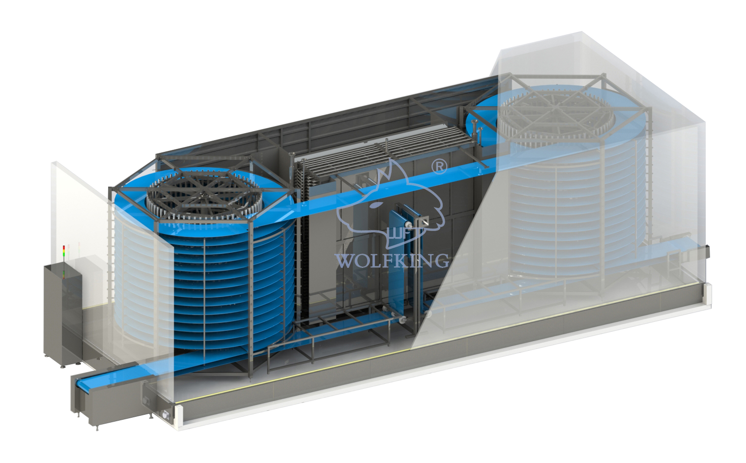 High Efficient High Profitability Spiral Freezer